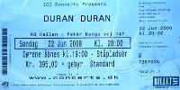 Duran duran ticket denmark 2008 200