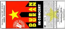 7 april 87 duran ticket
