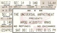 KROQ Acoustic Christmas, Universal Amphitheater in Los Angeles, CA (USA) duran duran duran ticket