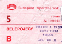 Ticket 6 december 1988