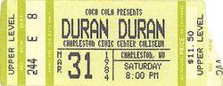 Duran duran ticket 31 march 84