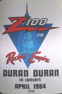 Z100 WHTZ FM Radio cloth sticker duran duran wikipedia
