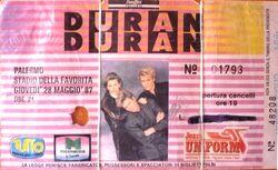 Duran duran ticket palermo italia