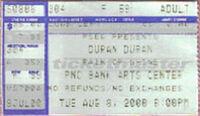Ticket 8 august 2000 new jersey pnc arts center duran duran discogs on twitter music.com amazon