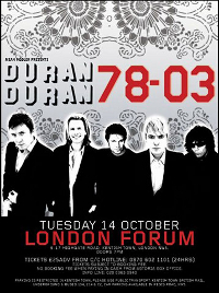 Poster london 14 october duran duran forum