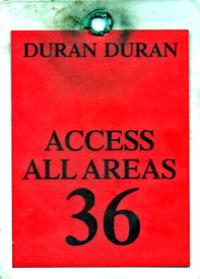 Duran duran 1987 tour pass