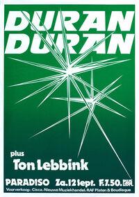 Poster paradisco amsterdam holland duran duran 1981