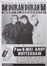 Ahoy rotterdam wikipedia duran duran com poster