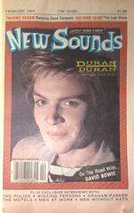 NEW SOUNDS Magazine - Feb 1984 - Duran Duran, Simon LeBon Cover, David Bowie wikipedia