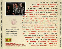 Duran Duran – World Broadcast bootleg wikipedia CD 1