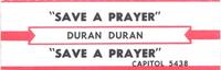 Save a prayer duran duran jukebox