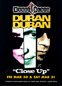 Poster duran duran house of blues
