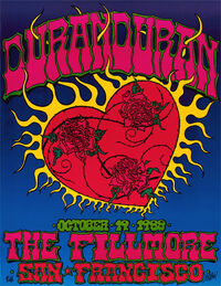 999 the filmore poster san francisco usa duran duran show concert live discography discogs wiki