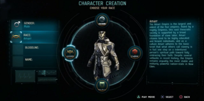 Character Creation Race.