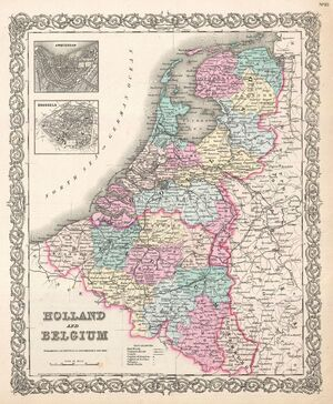 1855 Colton Map of Holland and Belgium - Geographicus - HollandBelgium-colton-1855