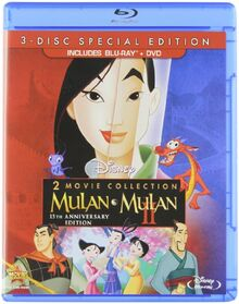Mulan 15th Anniversary Edition DVD + Blu-ray Front Cover