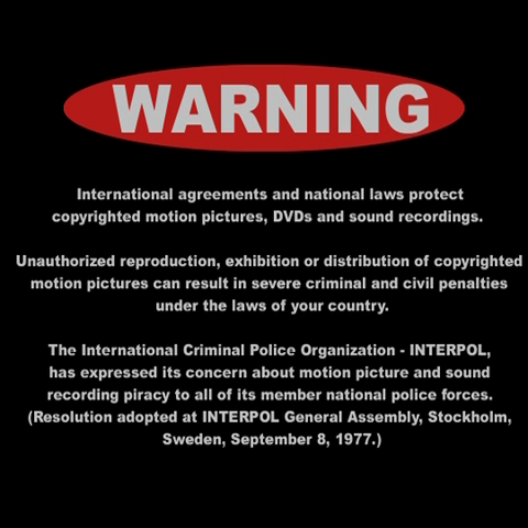English international FBI Warning