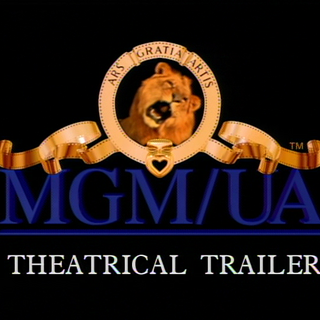 The MGM/UA Theatrical Trailer logo.