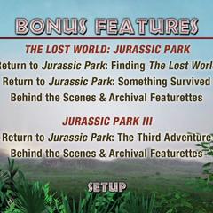 <i>Jurassic Park</i> Bonus Disc 2 Main Menu