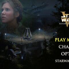 Star Wars: Return of the Jedi - Endor Main Menu Screenshot