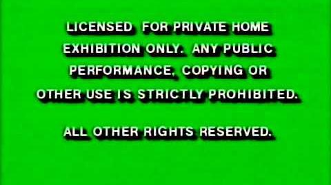 Disney FBI Warnings 1991