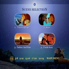 The Lion King - Scene Menu Screenshot