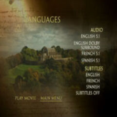 The Da Vinci Code - Languages Menu