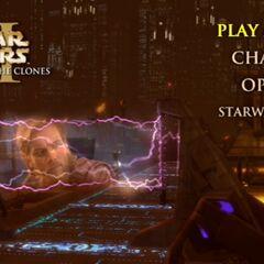 Star Wars: Attack of the Clones - Coruscant Main Menu Screenshot
