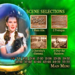 Wizard of Oz: 70th Anniversary Disc One Scene Selections Screen