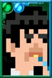 The Second Doctor Pixelated Portrait