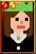 Clara Oswald + Pixelated Christmas Paper Hat Portrait