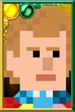 The Sixth Doctor Pixelated Portrait