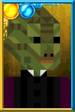 Madame Vastra Pixelated Portrait
