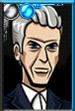 Twelfth Doctor Cartoony Portrait
