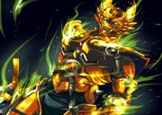 The golden beast knight by dualhydra-d5r9ket