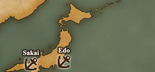 Coast of Japan - Port Map 1 (UW5)