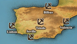 Iberian Peninsula - True Port Map (UW5)