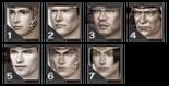 SW3 Male Face Parts