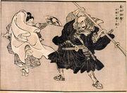 Yoshitsune-Benkei painting
