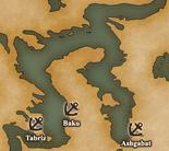 Caspian Sea - Port Map 2 (UW5)