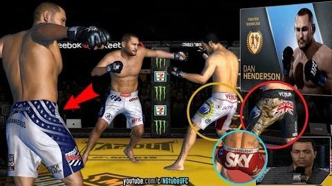 UFC mobile Dan Henderson RE showcase (MOD - HENDO, Machida, Bisping, Belfort shorts)
