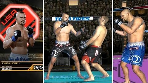 UFC mobile Chuck Liddell National Pride Edition showcase (MOD - shorts, tattoo, skin) UFC모바일 척리델