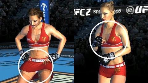 UFC mobile Miesha Tate CE showcase (mod patch - octagon girl bra, skort, shorts) UFC모바일 옥타곤걸