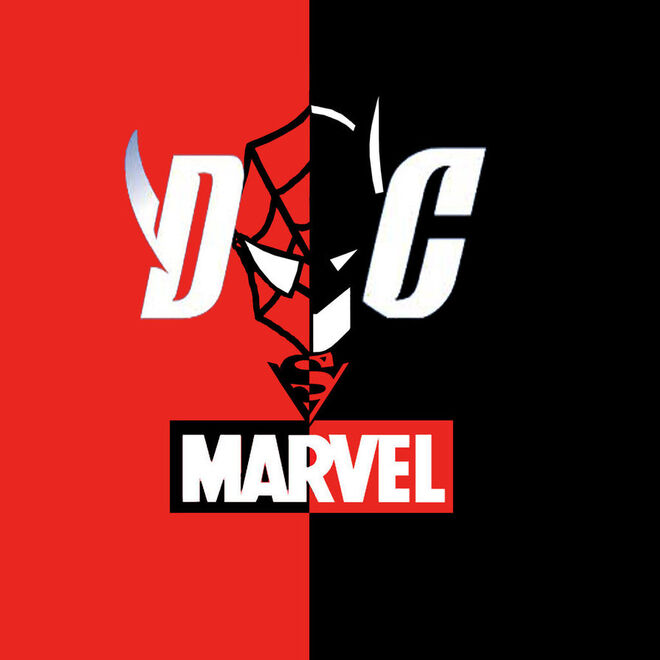 Marvel vs dc logo by iamthinkfree-d736dsd