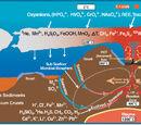 Oceanic spreading zone