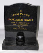 Mark Fowler Headstone