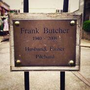 Frank Butcher Plaque