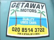 Getaway Motors Sign