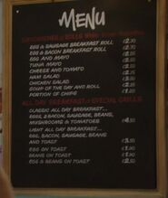 Cafe Price List 2014