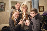 Beale Family and Chips the Dog